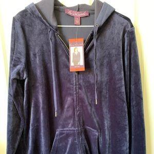 Gloria Vanderbilt Ellie velour hoodie